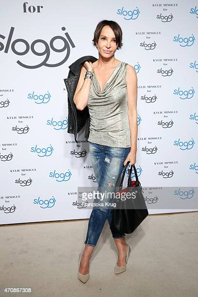 Anouschka Renzi attends the Kylie Minogue For Sloggi Collection Presentation on April 23 2015 in Berlin Germany
