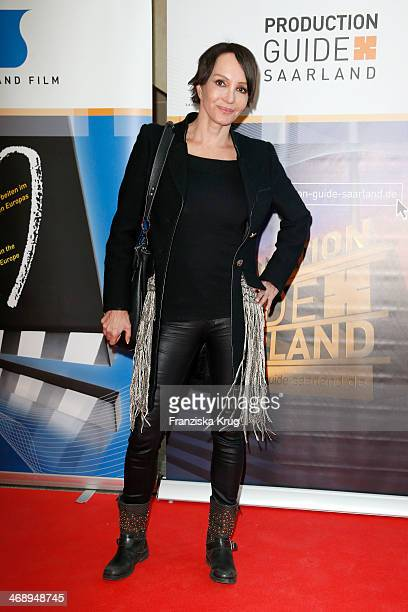 Anouschka Renzi attends the Saarland Film Reception during 64th Berlinale International Film Festival at Saarland Landesvertretung on February 12...
