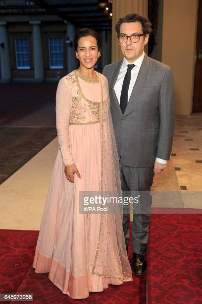 Anoushka Shankar and Joe Wright attend a reception this evening to mark the launch of the UKIndia Year of Culture 2017 on February 27 2017 in London...