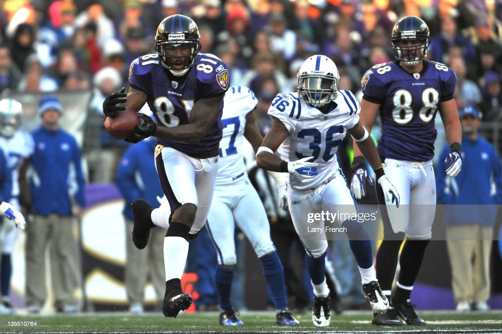 <a gi-track='captionPersonalityLinkClicked' href=/galleries/search?phrase=Anquan+Boldin&family=editorial&specificpeople=182484 ng-click='$event.stopPropagation()'>Anquan Boldin</a> #81 of the Baltimore Ravens makes a catch against the Indianapolis Colts at M&T Bank Stadium on December 11, 2011 in Baltimore, Maryland. The Ravens defeated the Colts 24-10.