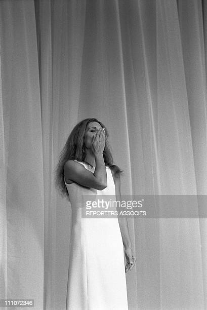 anquetil In The First Time Of Dalida At Olympia In Paris France On October 07 1967 Dalida on stage