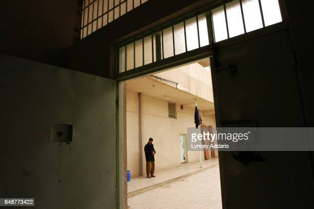 Ansar fighter Nazhad Mohammed stands in the main prison in Sulaimaniya Northern Iraq February 4 2004 Since American Special Forces and Kurdish...