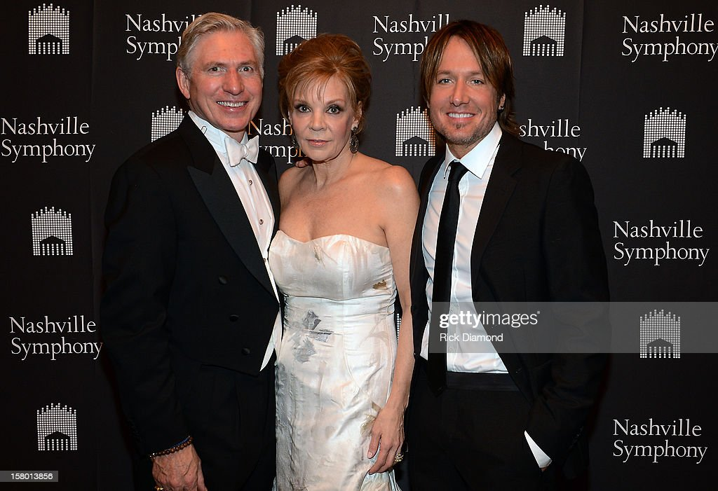 Ansel Davis, Jana Davis, Symphony Ball co-chair, and Keith Urban attend Symphony Ball at Schermerhorn Symphony Center, where Keith Urban accepted the Harmony Award on December 8, 2012 in Nashville, Tennessee.