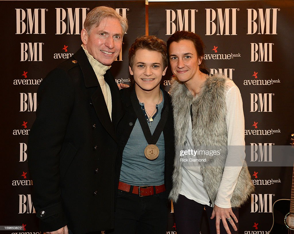 Ansel Davis Management, Singer/Songwriter Hunter Hunter and Betsy McHugh Management attend 'Wanted' No 1 Party on January 17, 2013 in Nashville, Tennessee.