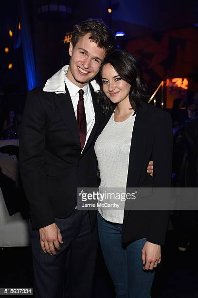 Ansel Elgort and Shailene Woodley attend the 'Allegiant' New York Premiere After Party at Cipriani 42nd Street on March 14 2016 in New York City