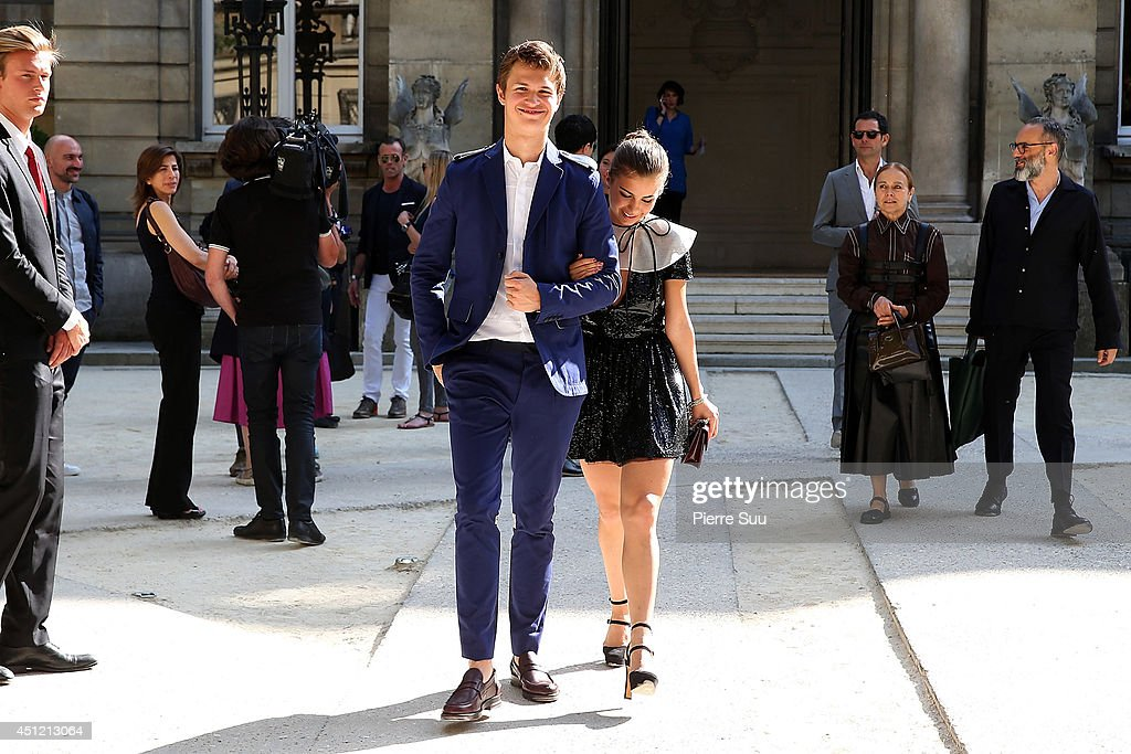 <a gi-track='captionPersonalityLinkClicked' href=/galleries/search?phrase=Ansel+Elgort&family=editorial&specificpeople=9064000 ng-click='$event.stopPropagation()'>Ansel Elgort</a> and <a gi-track='captionPersonalityLinkClicked' href=/galleries/search?phrase=Violetta+Komyshan&family=editorial&specificpeople=12931012 ng-click='$event.stopPropagation()'>Violetta Komyshan</a> attend the Valentino show as part of the Paris Fashion Week Menswear Spring/Summer 2015 on June 25, 2014 in Paris, France.