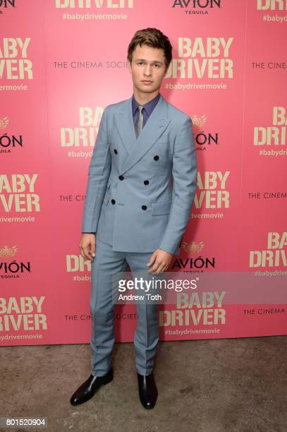 Ansel Elgort attends a screening of 'Baby Driver' hosted by TriStar Pictures and The Cinema Society at The Metrograph on June 26 2017 in New York City
