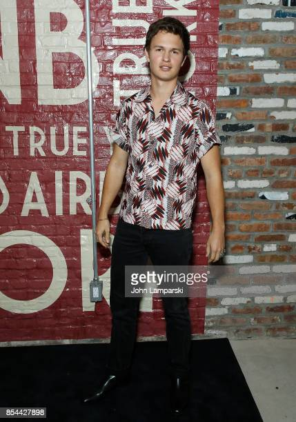 Ansel Elgort attends Airbnb presents True York on September 26 2017 in New York City