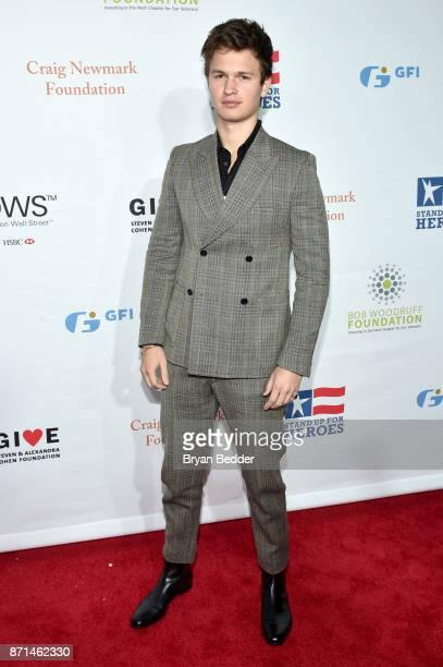 Ansel Elgort attends the 11th Annual Stand Up for Heroes Event presented by The New York Comedy Festival and The Bob Woodruff Foundation at The...
