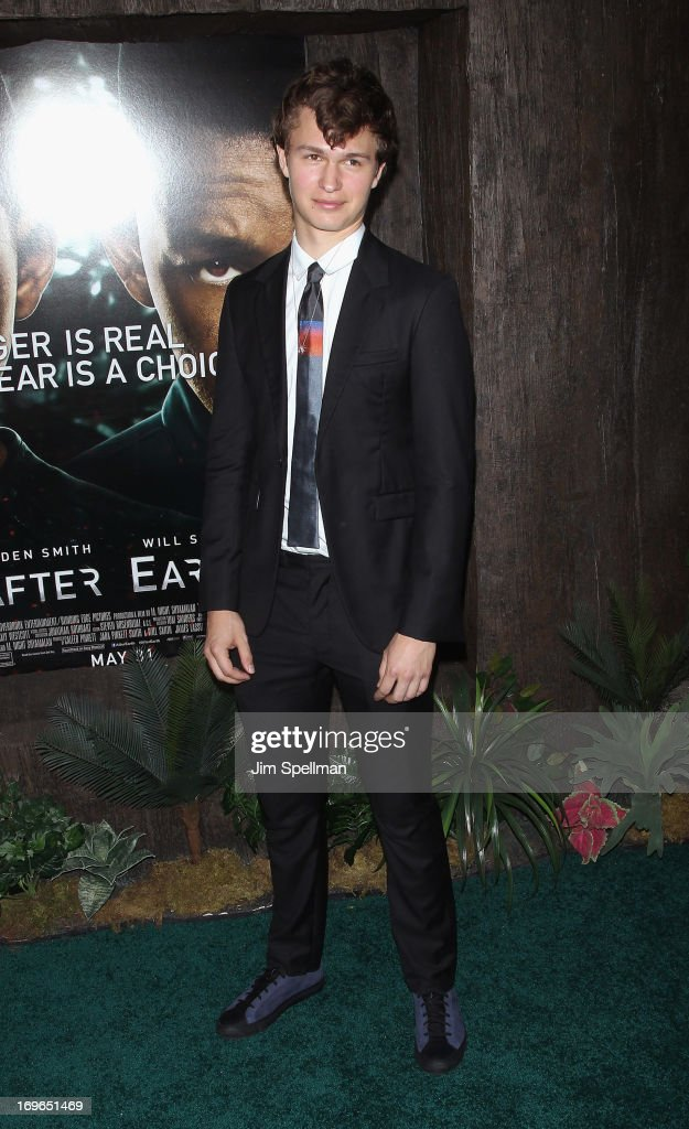 Ansel Elgort attends the 'After Earth' premiere at the Ziegfeld Theater on May 29, 2013 in New York City.