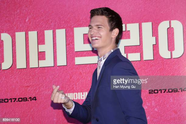 Ansel Elgort attends the 'Baby Driver' press conference at COEX Megabox on August 25 2017 in Seoul South Korea The film will open on September 14 in...
