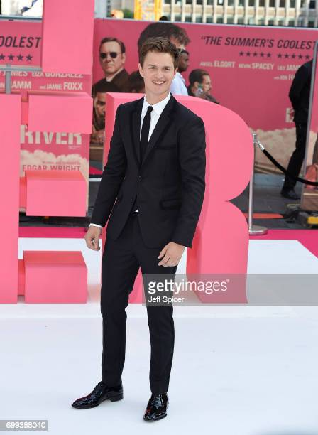 Ansel Elgort attends the European premiere of 'Baby Driver' on June 21 2017 in London United Kingdom