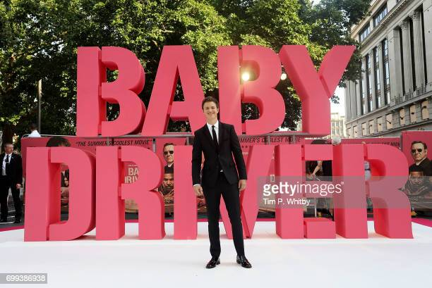 Ansel Elgort attends the European Premiere of Sony Pictures 'Baby Driver' on June 21 2017 in London England