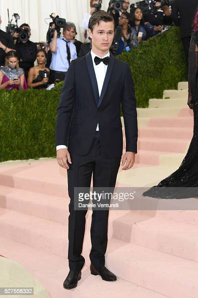 Ansel Elgort attends the 'Manus x Machina Fashion In An Age Of Technology' Costume Institute Gala at Metropolitan Museum of Art on May 2 2016 in New...