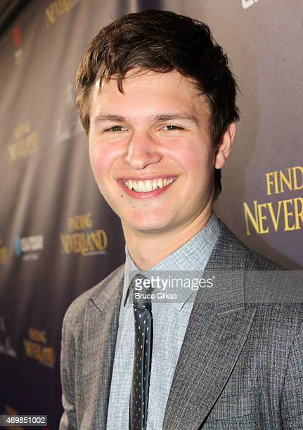 Ansel Elgort attends The Opening Night performance of 'Finding Neverland' on Broadway at The LuntFontanne Theatre on April 15 2015 in New York City