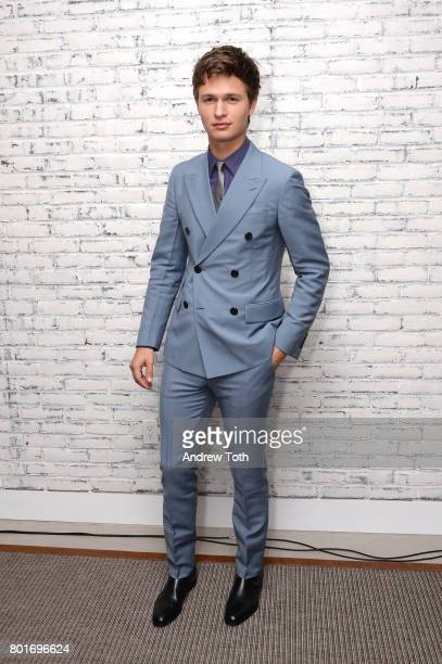 Ansel Elgort attends the screening after party for 'Baby Driver' hosted by TriStar Pictures and The Cinema Society at The Crown at Hotel 50 Bowery on...