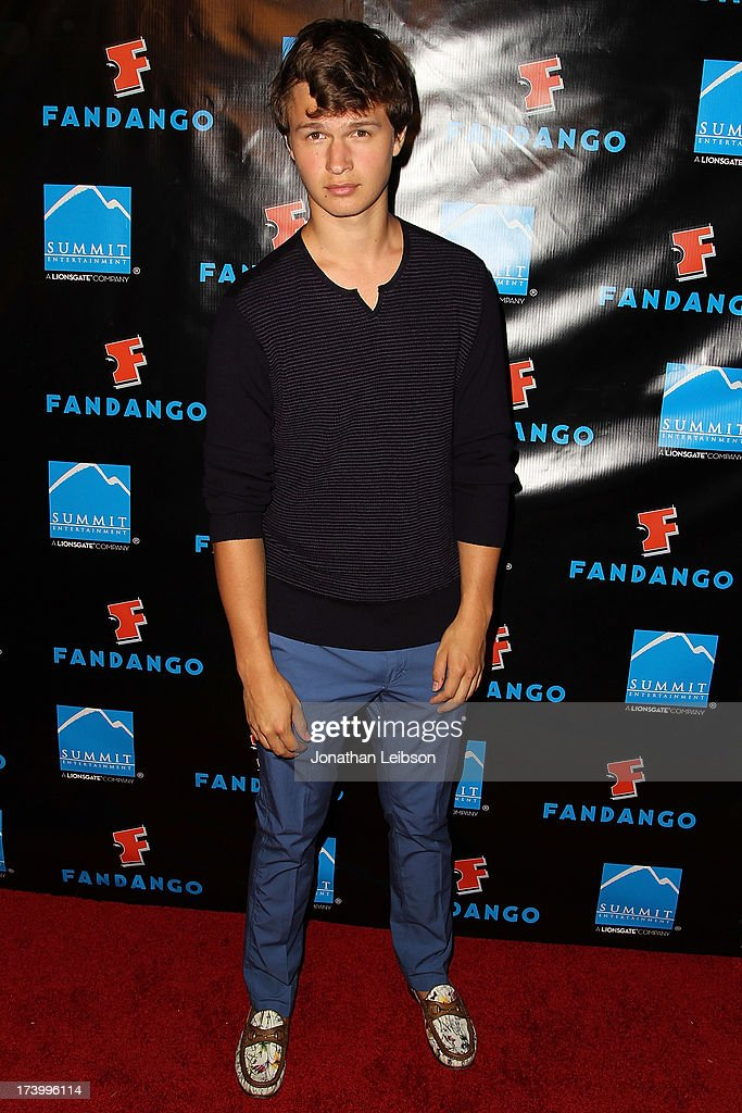<a gi-track='captionPersonalityLinkClicked' href=/galleries/search?phrase=Ansel+Elgort&family=editorial&specificpeople=9064000 ng-click='$event.stopPropagation()'>Ansel Elgort</a> attends the Summit Entertainment's Comic-Con Red Carpet Press Event - Comic-Con International 2013 at Hard Rock Hotel San Diego on July 18, 2013 in San Diego, California.