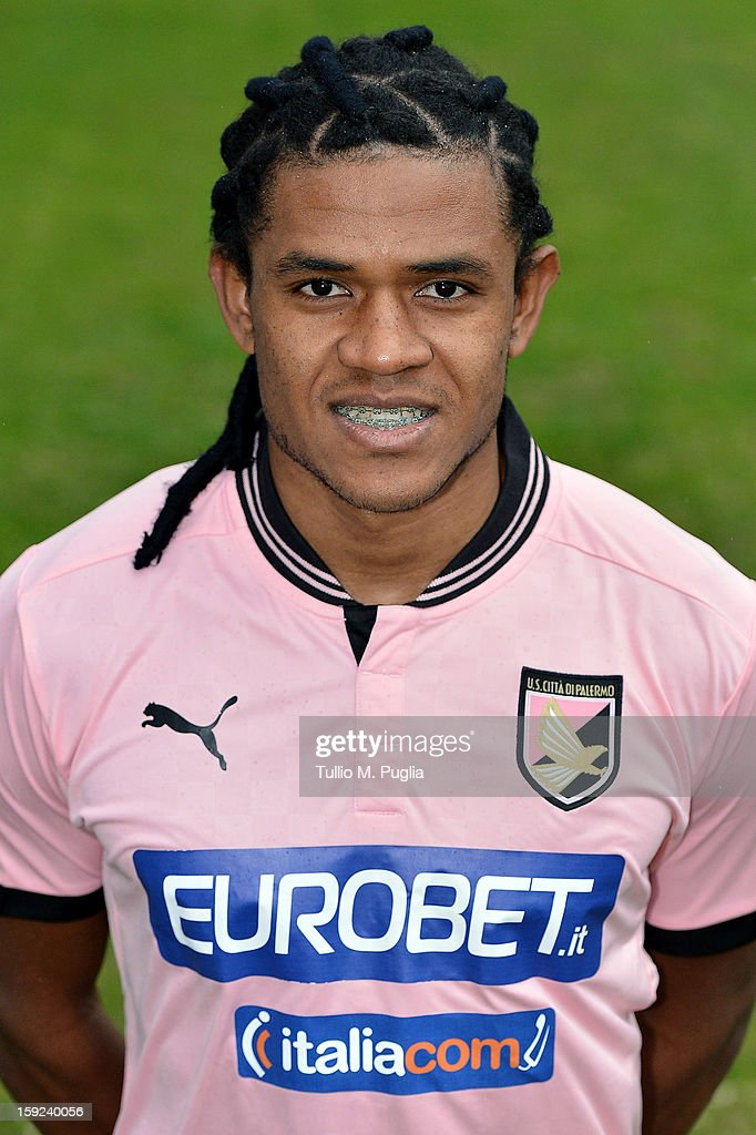 Anselmo de Moraes of US Citta di Palermo poses for the team's official headshots before a training session at Tenente Carmelo Onorato Sports Center on January 10, 2013 in Palermo, Italy.