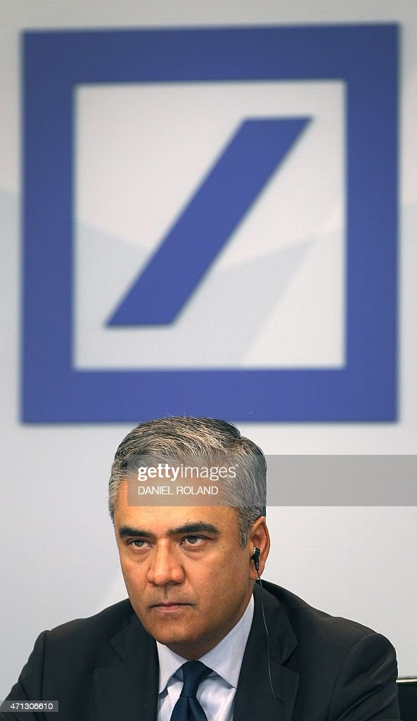 <a gi-track='captionPersonalityLinkClicked' href=/galleries/search?phrase=Anshu+Jain&family=editorial&specificpeople=4132683 ng-click='$event.stopPropagation()'>Anshu Jain</a>, co-CEO of the Deutsche Bank addresses the media during a news conference at the company's headquarters in Frankfurt/Main, Germany, on April 27, 2015. Deutsche Bank, Germany's biggest lender, unveiled Monday details of a massive strategic shake-up as part of which it plans to bring down annual costs by 3.5 billion euros ($3.8 billion) by 2020. AFP PHOTO / DANIEL ROLAND