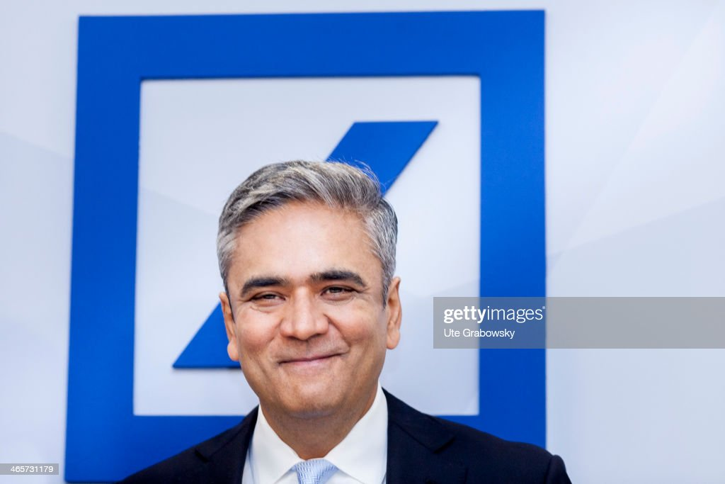 <a gi-track='captionPersonalityLinkClicked' href=/galleries/search?phrase=Anshu+Jain&family=editorial&specificpeople=4132683 ng-click='$event.stopPropagation()'>Anshu Jain</a>, co-Chairmen of German bank Deutsche Bank attends the financial results for 2013 at the company's annual press conference for photographers on January 29, 2014 in Frankfurt, Germany. Deutsche Bank was hit hard by litigation costs and fines totaling over three billion euros in 2013 stemming from its role in the Libor rate manipulation scandal.