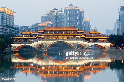 Anshun bridge in Chengdu