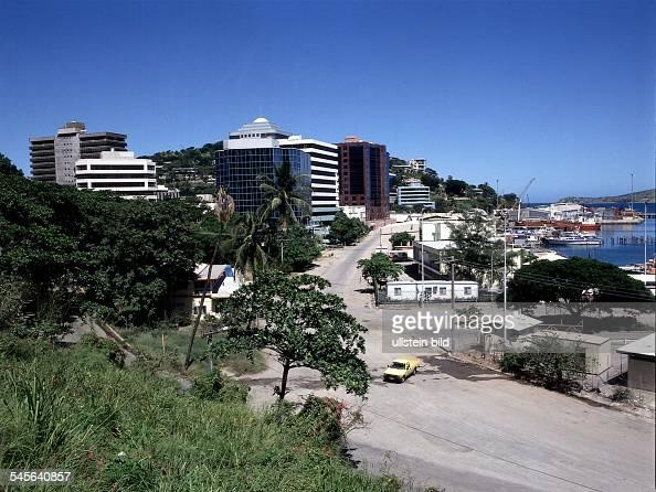 Ansicht der Hauptstadt Port Moresby 1998