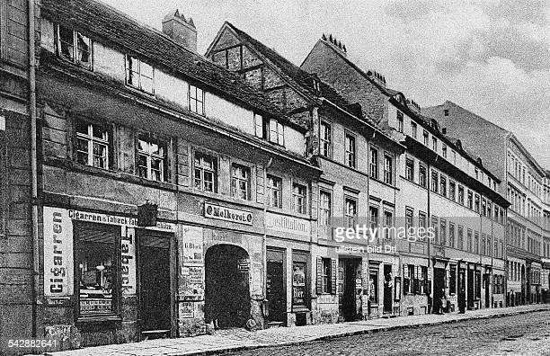Ansicht der Mauerstrasse mitdem Gasthof 'Zum Goldenen Hirschen'1889