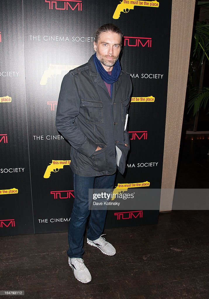 Anson Mount attends The Weinstein Company With The Cinema Society And Tumi Host A Screening Of 'This Must Be the Place' at Tribeca Grand Hotel on October 25, 2012 in New York City.
