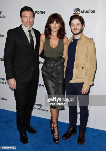 Anson Mount Serinda Swan and Iwan Rheon attend the 2017 ABC/Disney Media Distribution International Upfronts at Walt Disney Studio Lot on May 21 2017...