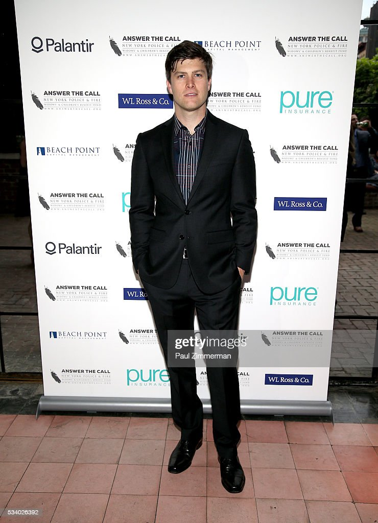 Answer the Call Kick off to Summer Honorary Chair/comedian Colin Jost poses at the 4th annual New York Police and Fire Widows Children's Benefit Kick...