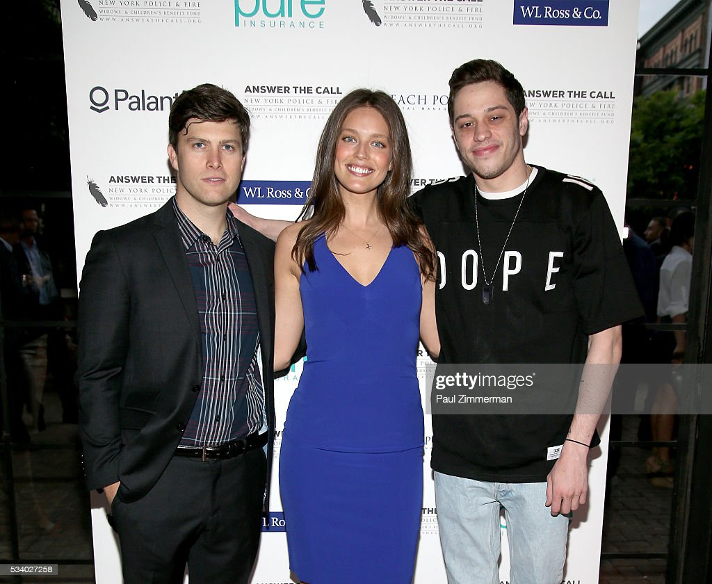 Honorary Chairs comedian <a gi-track='captionPersonalityLinkClicked' href=/galleries/search?phrase=Colin+Jost&family=editorial&specificpeople=4809340 ng-click='$event.stopPropagation()'>Colin Jost</a>, model <a gi-track='captionPersonalityLinkClicked' href=/galleries/search?phrase=Emily+DiDonato&family=editorial&specificpeople=6155210 ng-click='$event.stopPropagation()'>Emily DiDonato</a> and <a gi-track='captionPersonalityLinkClicked' href=/galleries/search?phrase=Pete+Davidson&family=editorial&specificpeople=8019074 ng-click='$event.stopPropagation()'>Pete Davidson</a> pose at the 4th Annual Kick Off To Summer Benefit 'The Red & Blue Soiree' at The Bowery Hotel on May 24, 2016 in New York City.