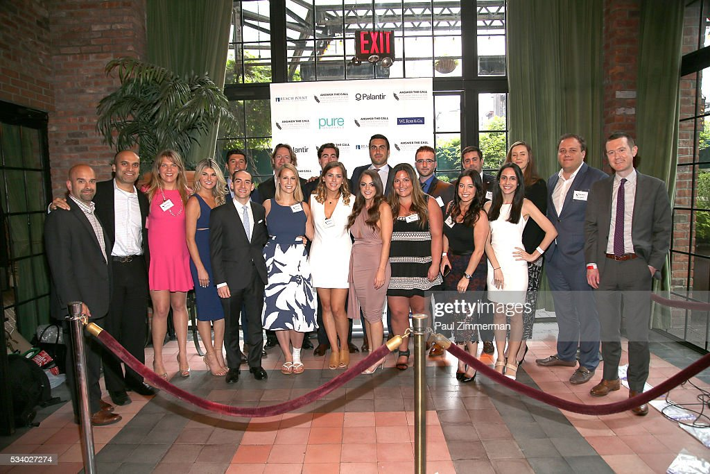 Host committee members pose at the 4th Annual Kick Off To Summer Benefit 'The Red & Blue Soiree' at The Bowery Hotel on May 24, 2016 in New York City.