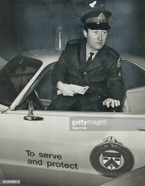 Answering a call in Metro police's 14th division Constable Dick Dewhirst jumps out of his patrol car with notebook in hand His successor on the night...