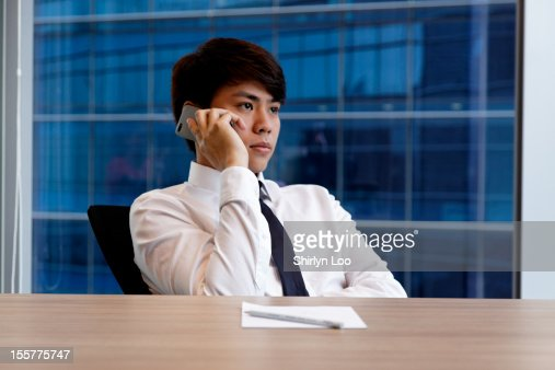 Answering the Phone : Stock Photo
