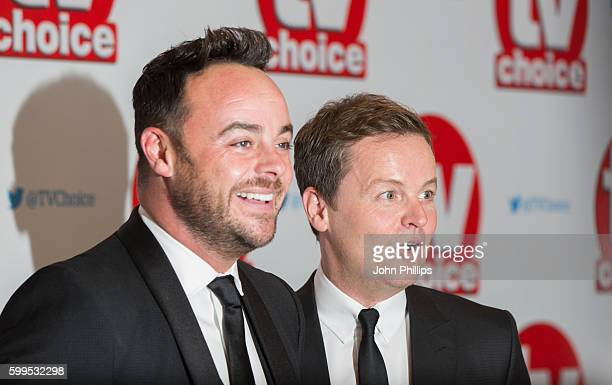 Ant and Dec arrive for the TV Choice Awards at the Dorchester Hotel on September 5 2016 in London England