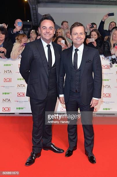 Ant and Dec attend the 21st National Television Awards at The O2 Arena on January 20 2016 in London England
