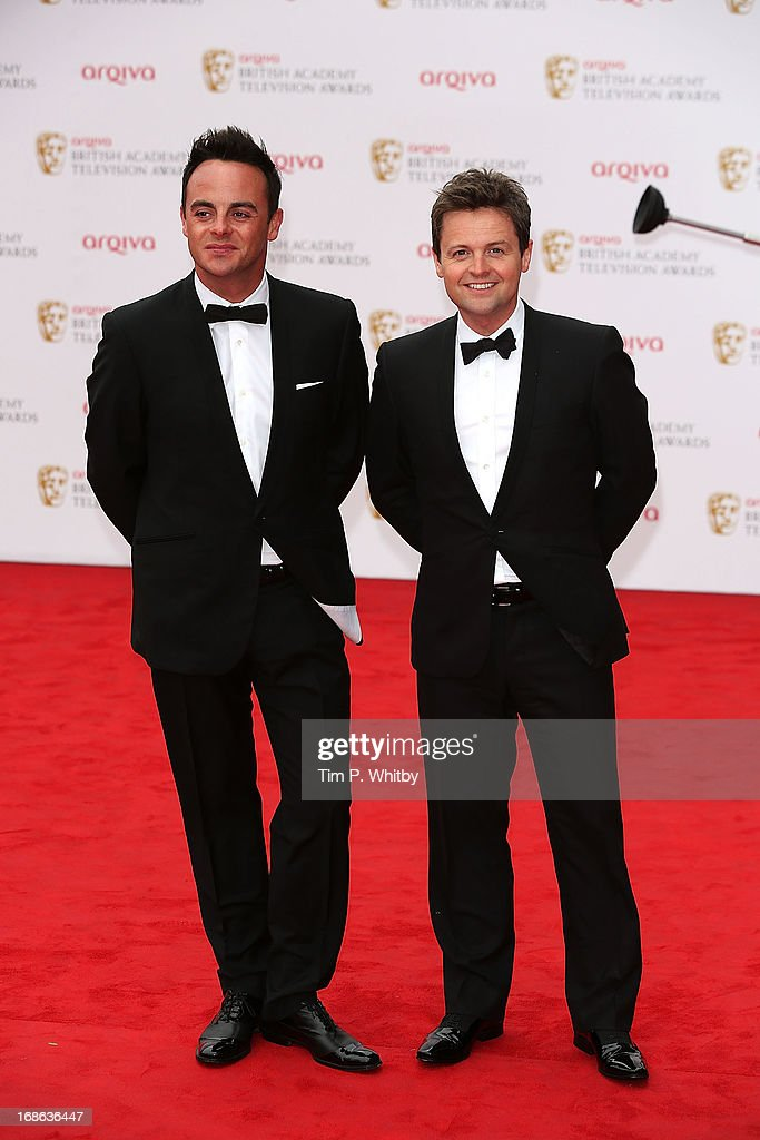 Ant and Dec attend the Arqiva British Academy Television Awards 2013 at the Royal Festival Hall on May 12, 2013 in London, England.