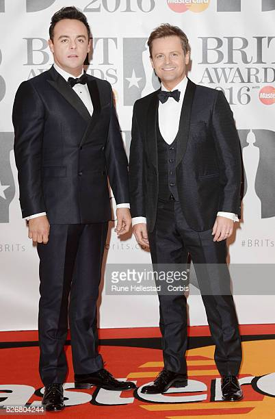 Ant and Dec attend the Brit Awards at O2 Arena