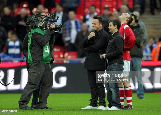 Ant and Dec film a segment for their tv show Push the Button
