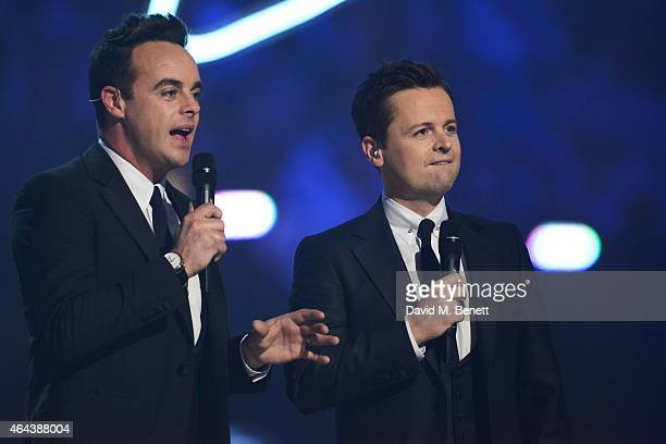 Ant Dec present at the BRIT Awards 2015 at The O2 Arena on February 25 2015 in London England