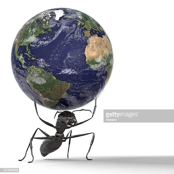Ant Lifting the Earth