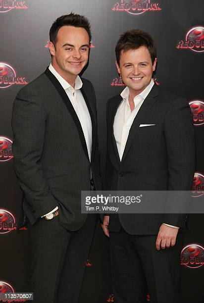 Ant McPartlin and Declan Donnely attend the launch of ITVs new show called Red or Black at The Mayfair Hotel on May 3 2011 in London England