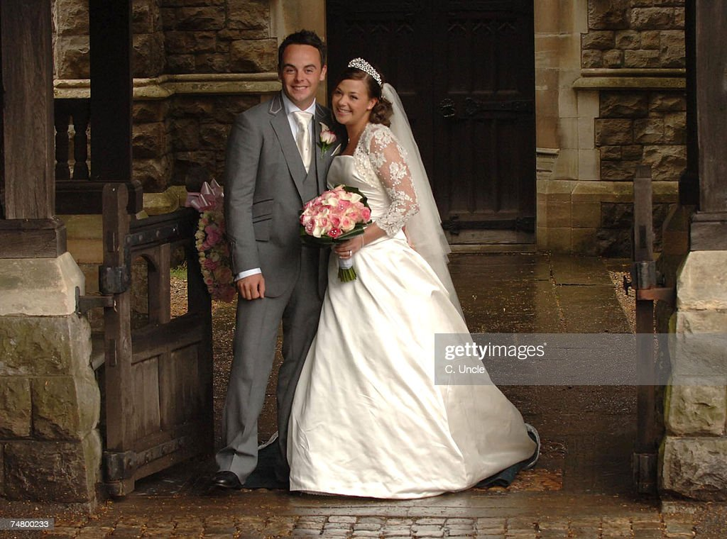 Ant McPartlin and Lisa Armstrong at the Ant McPartlin and Lisa Armstrong Wedding at St. Nicholas Church Taplow in Taplow.