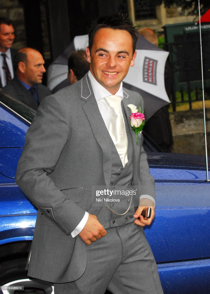 <a gi-track='captionPersonalityLinkClicked' href=/galleries/search?phrase=Ant+McPartlin&family=editorial&specificpeople=212754 ng-click='$event.stopPropagation()'>Ant McPartlin</a> during <a gi-track='captionPersonalityLinkClicked' href=/galleries/search?phrase=Ant+McPartlin&family=editorial&specificpeople=212754 ng-click='$event.stopPropagation()'>Ant McPartlin</a> and Lisa Armstrong Wedding at St. Nicholas Church Taplow in Taplow, Great Britain.