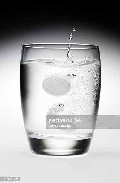 Antacid Tablets Dropped in Water