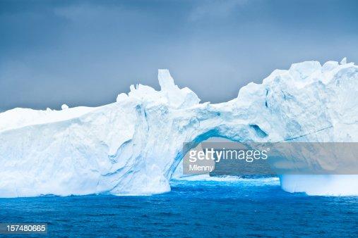 Antarctic Iceberg Natural Arch