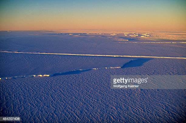 Antarctica Atka Iceport Jelbart Ice Shelf Aerial View Of Fast Ice And Ice Shelf