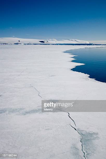 antarctica breaking pack ice