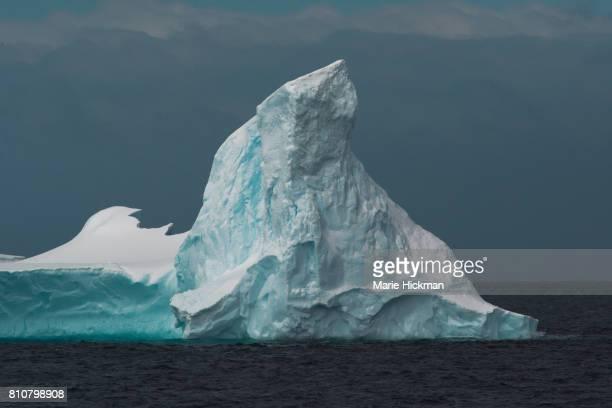 Antarctica day-glo turquoise and white ICEBERG