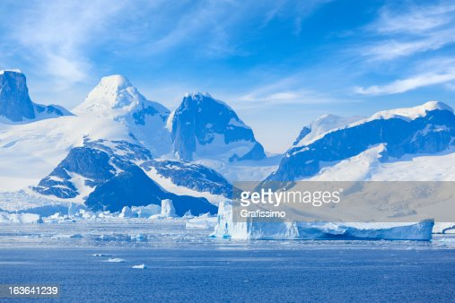 Antarctica Lemaire Channel Mountain